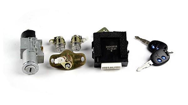 转向锁座、遥控模块及锁芯钥匙总成