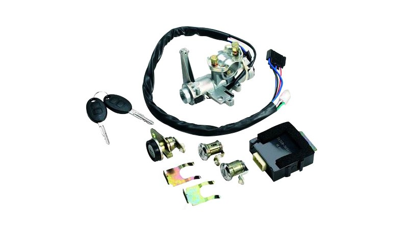 Ignition switch, lock core and key assembly