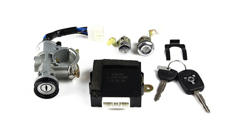 Ignition lock, lock core and key assembly